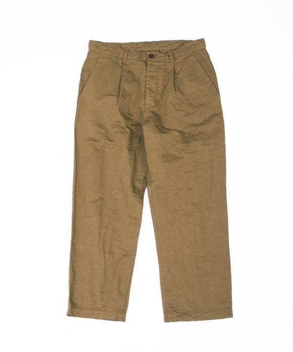 コットンリネン超高密度パンツ