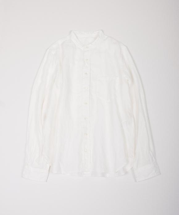 リネン高密度ツイルシャツ