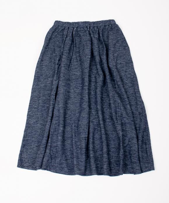 コットンリネンインレイギャザースカート