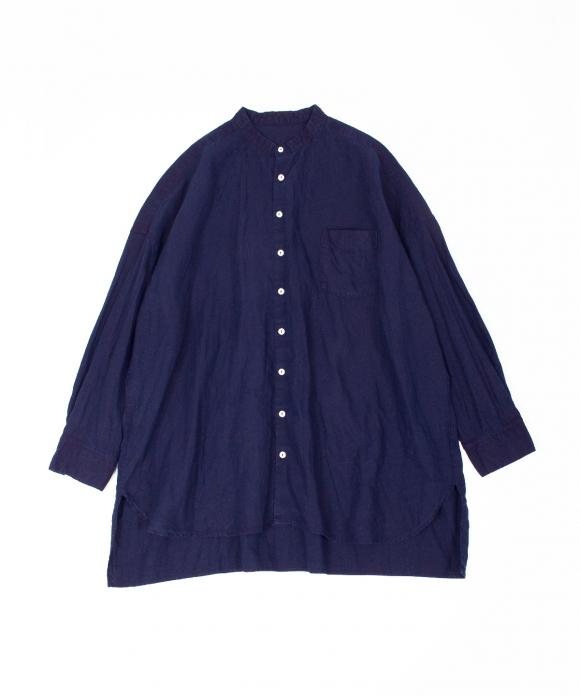 リネンハイカウントバンドカラーシャツ limited item