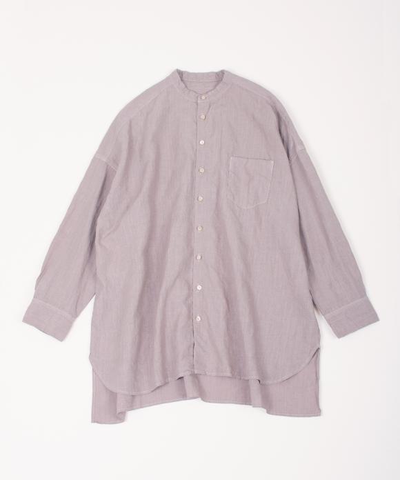 リネンハイカウントバンドカラーシャツ new color