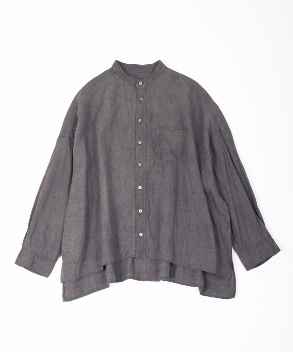 墨染めリネンビッグシャツ