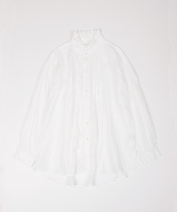 リネンフリンジカラードレスシャツ