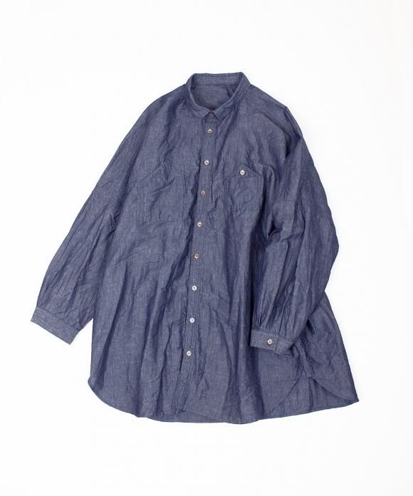 コットンリネン和紙ワークシャツ