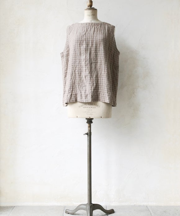 "【""Artisan"" Collection】LINEN CHECK VEST"