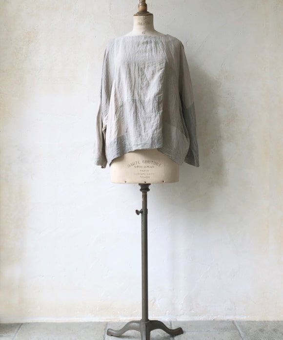 "【""Artisan"" Collection】LINEN PATCHWORK DOLMAN BLOUSE"