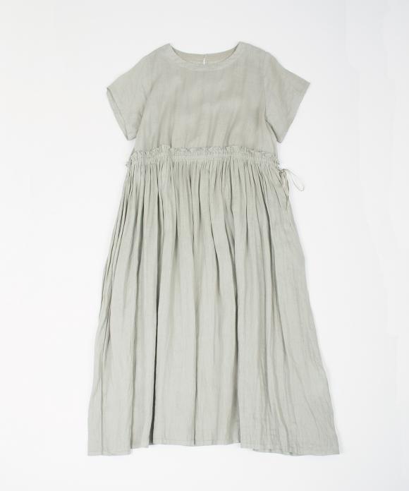 リネンフリルギャザードレス