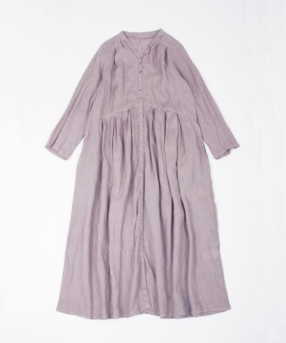 リネンYネックドレス new fabric