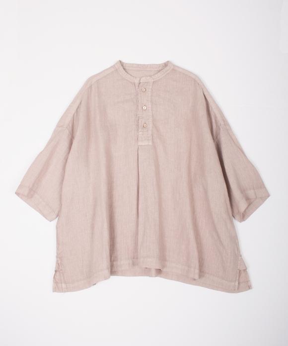 リネン天然染めレトリーシャツ