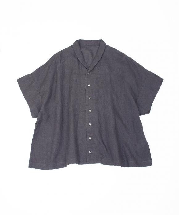 リネンショールカラーシャツ
