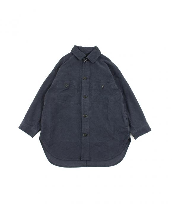 コットンモールスキンビッグシャツジャケット