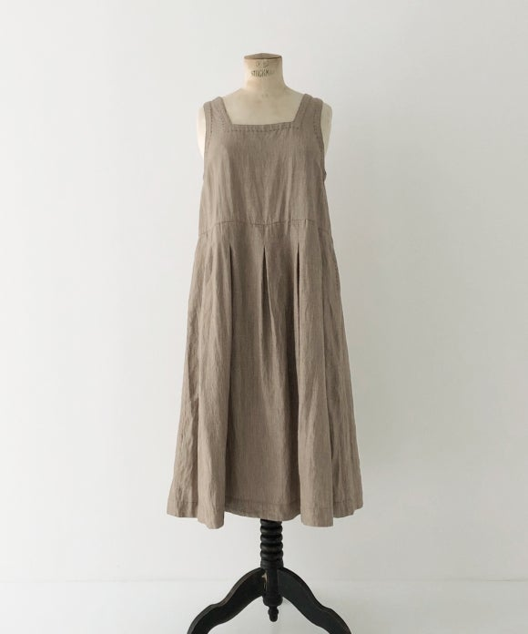 "【""Artisan"" Collection】SLEEVELESS TUCKED DRESS"