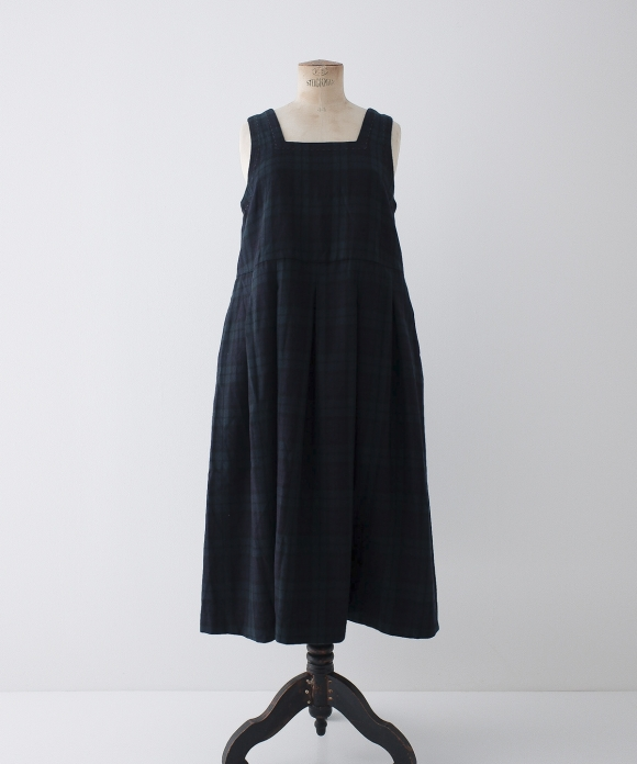 "【""Artisan"" Collection】Check Jumper Dress"