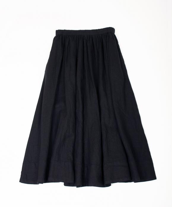 リネンギャザースカート new color //
