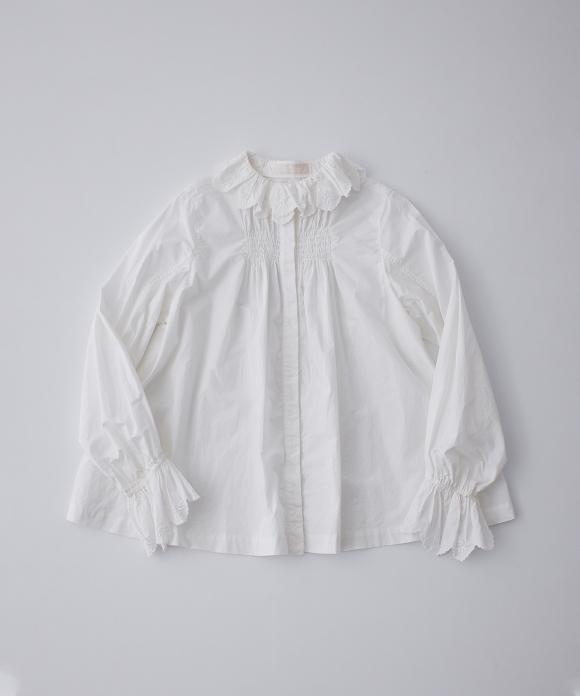 コットンラミー刺繍ブラウス limited color