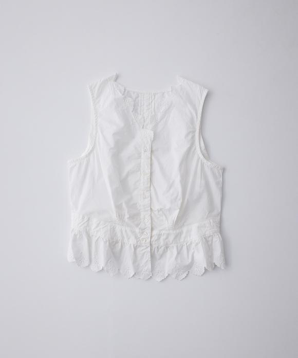 コットンラミー刺繍ベスト limited color