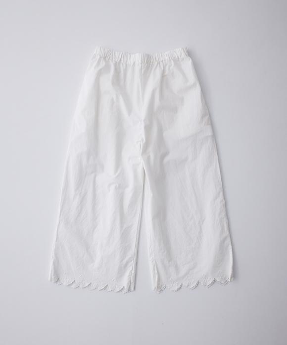 コットンラミー刺繍パンツ limited color