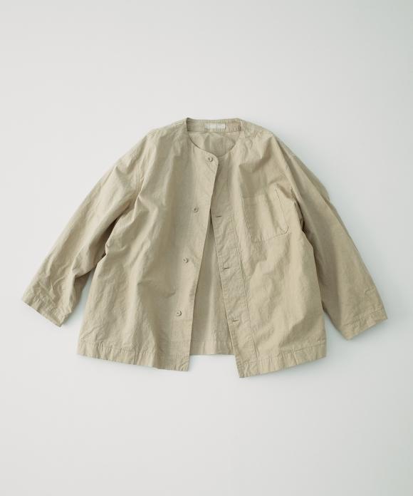 コットンリネン近江晒馬布シャツジャケット