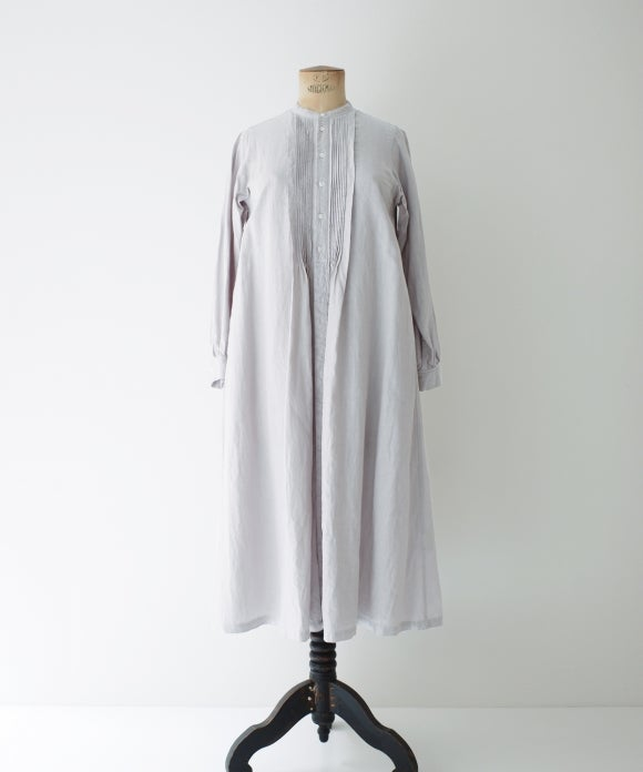 "【""Artisan"" Collection】Pin Tucked Long Shirt Dress"
