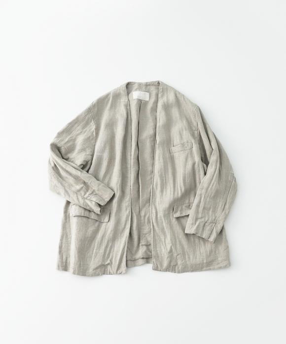 リネンシルクツイードカラーレスジャケット