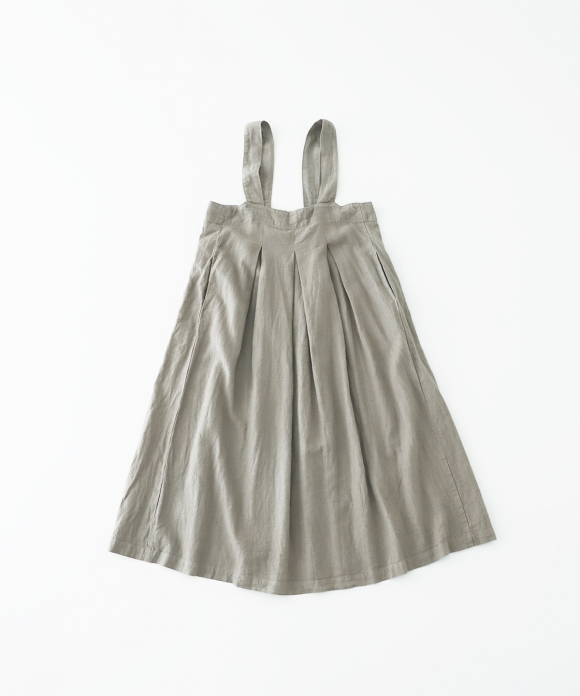 起毛リネンフレアジャンパースカート