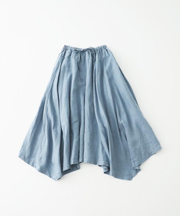 リネン天然染めハンカチヘムスカート