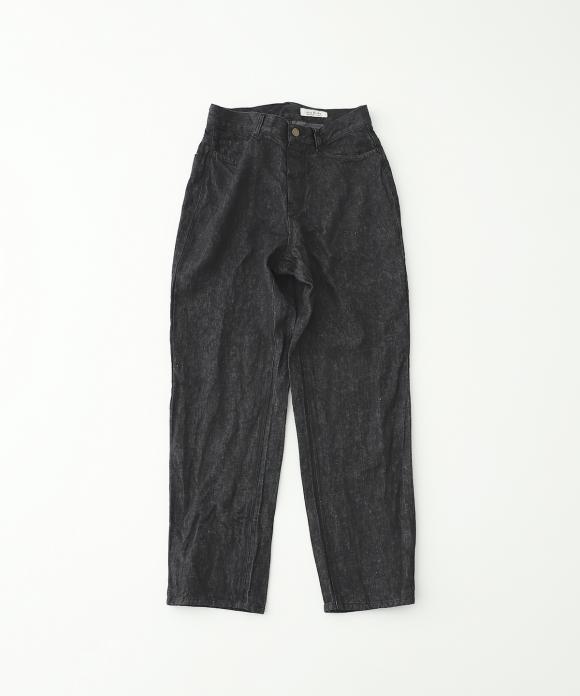 リネンデニム5ポケットパンツ ブラック