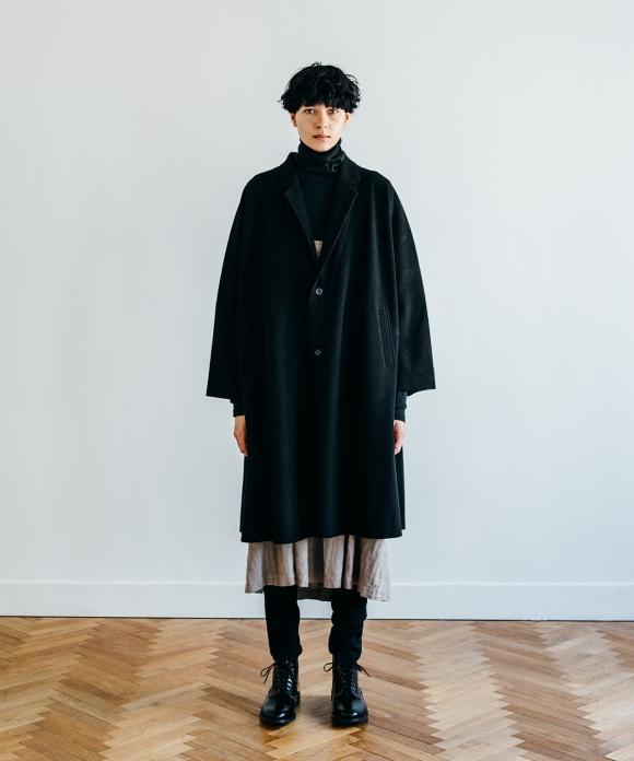 ウールカシミヤフリースライトコート
