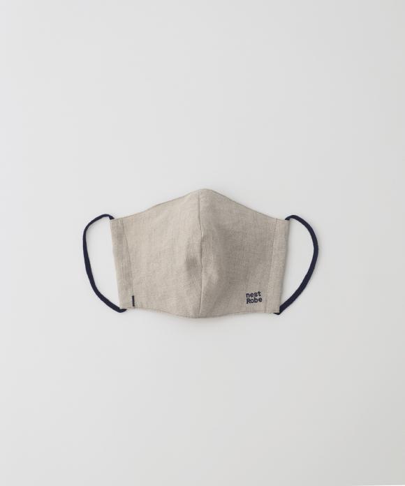 【サイズL】リネン抗菌マスク ナチュラル