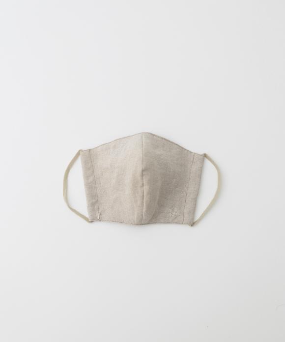 【サイズM】リネン抗菌マスク ナチュラル