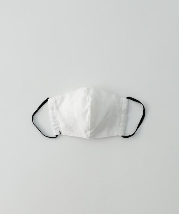 【サイズL・刺繍なし】リネン抗菌マスク オフシロ