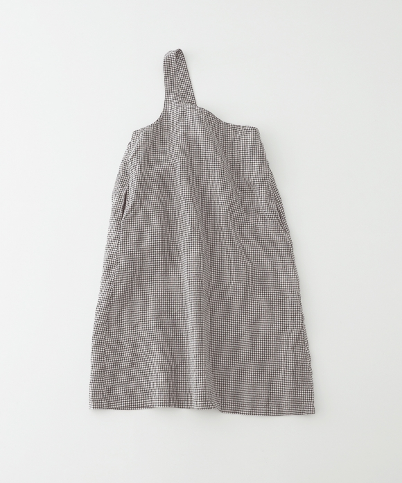 ヘンプ先染めギンガムワンショルダーワンピース limited item