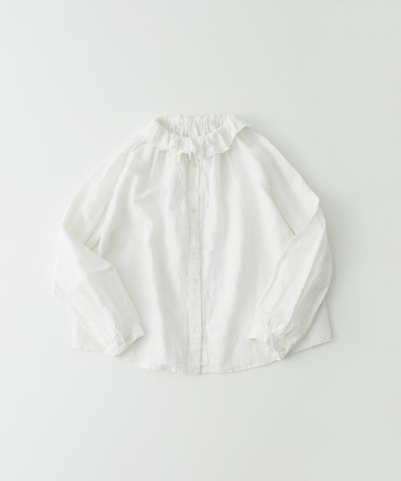 コットンリネンダンガリーフリルシャツ new fabric
