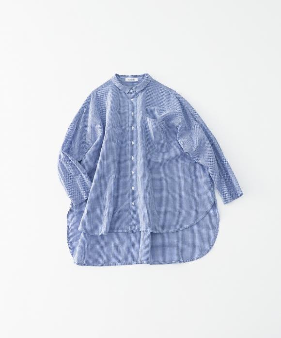 ハードマンコットンリネンカシュクールシャツ