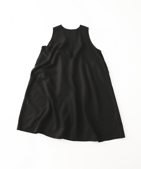 ディープVネックノースリーブドレス new fabric