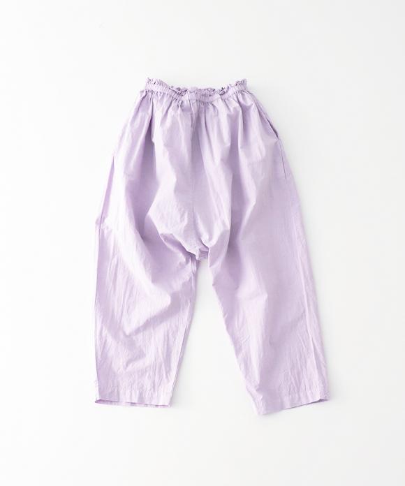 コットンラミーサルエル8分丈パンツ