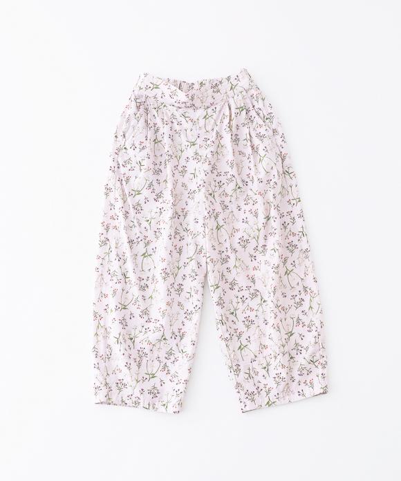 【UpcycleLino】flowers パンツ ハンガー付き