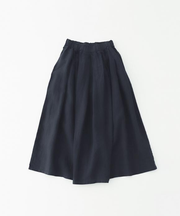リネンタックギャザーマキシスカート