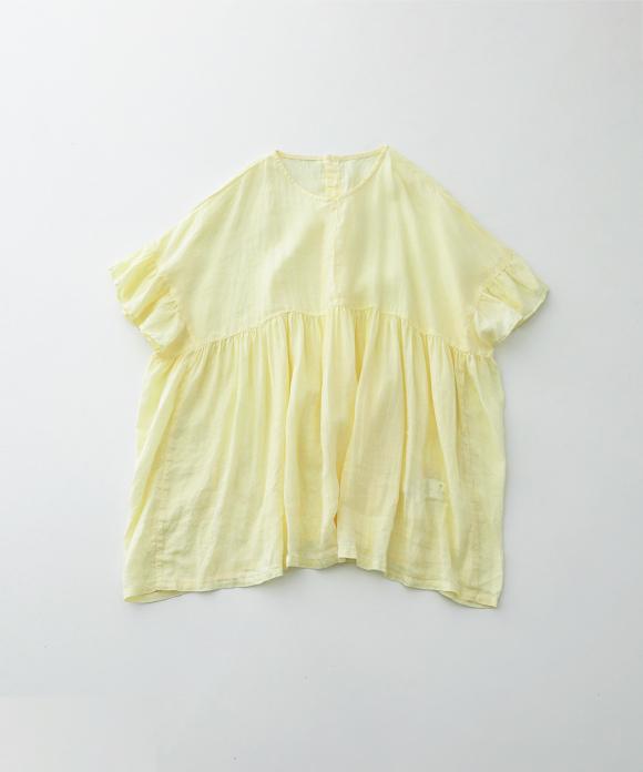 リネンフリルスリーブチュニック limited color