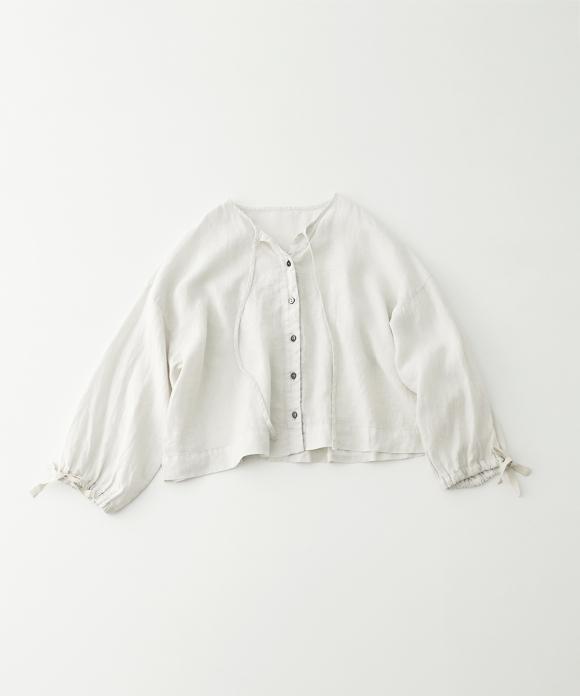 ヘンプ超撥水ギャザースリーブショートシャツ limited color