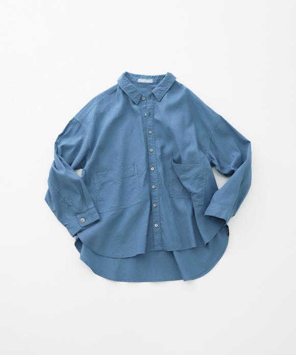 【UpcycleLino】ローポケットシャツジャケット ハンガー付き