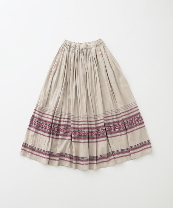 【UpcycleLino】パネルジャカードスカート ハンガー付き