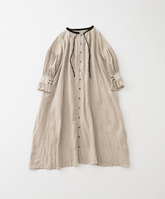 リネンスモックドレス