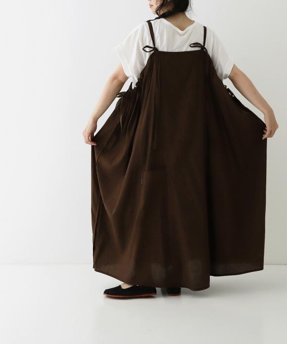 【菊池亜希子さん別注】UpcycleLino SQUARE DRESS ハンガー付き