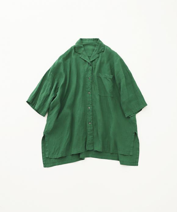 ヘンプオープンカラーシャツ