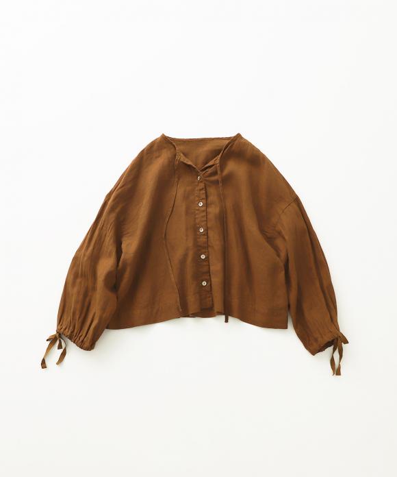 リネン超撥水ギャザースリーブショートシャツ new fabric