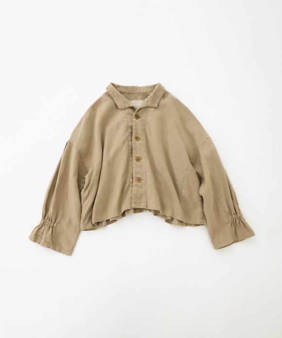 リネン起毛 ショートジャケット