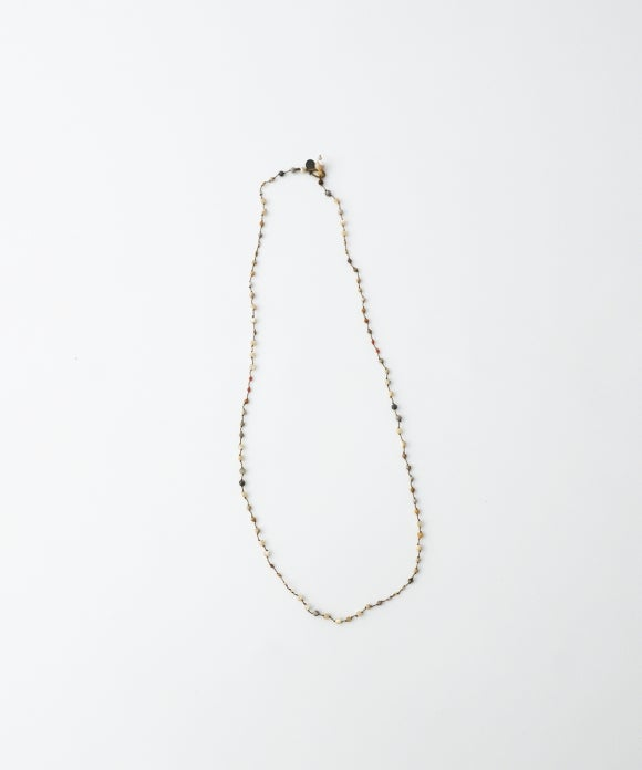【mikia】フォッシルコーラルnecklace