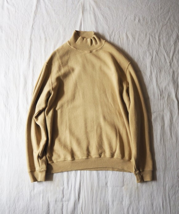 Natural Dye Fleece Bottle Neck Sweat Shirt