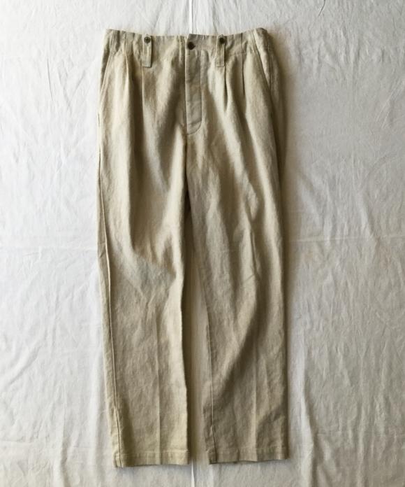 Linen Military 2Tuck Pants